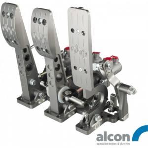 Golvmonterat pedalställ 3 pedaler 3x Alcon huvudcylindrar V3 billet CNC-Alu
