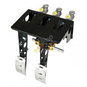 Hängande pedalställ 2 pedaler 3x huvudcylindrar